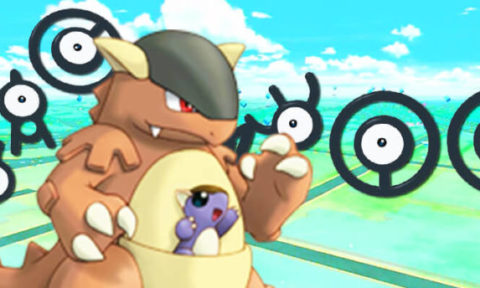 Rare Pokemon, such as Kangaskhan and Unown