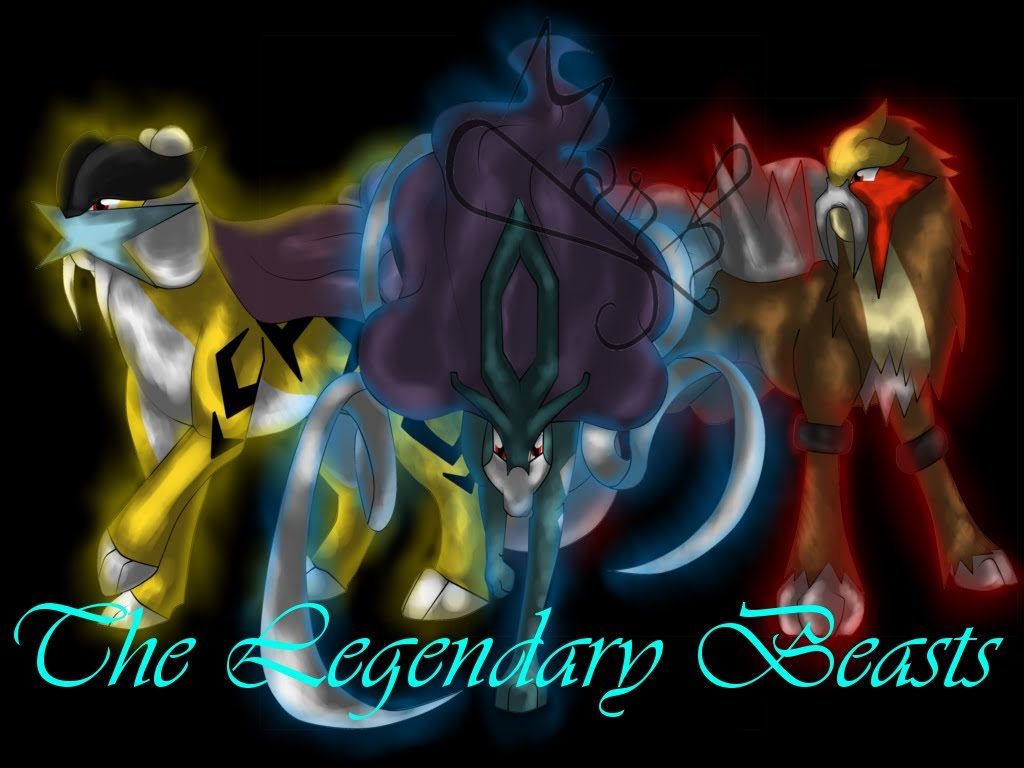 Legend Of The Legendary Beasts Pokemon Group Its body is composed of lightning and with the form of a white and blue wolf or dog. legend of the legendary beasts