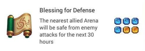 Blessing for defense
