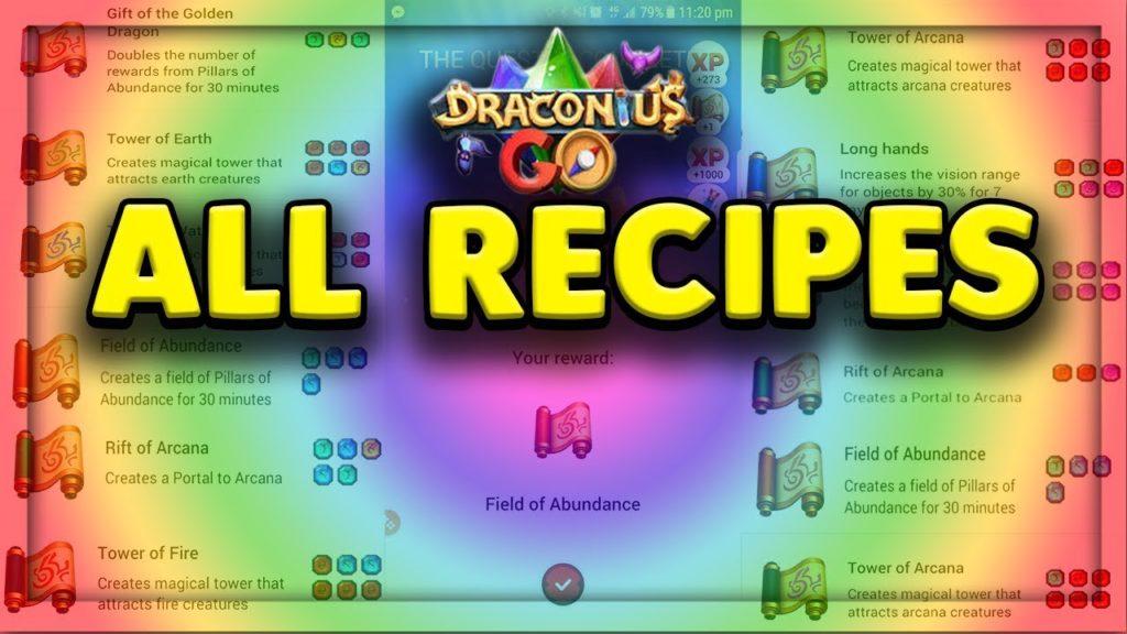 Draconius Go Recipes