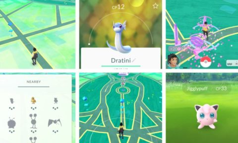 Green and Dark Green Areas in Pokemon Go