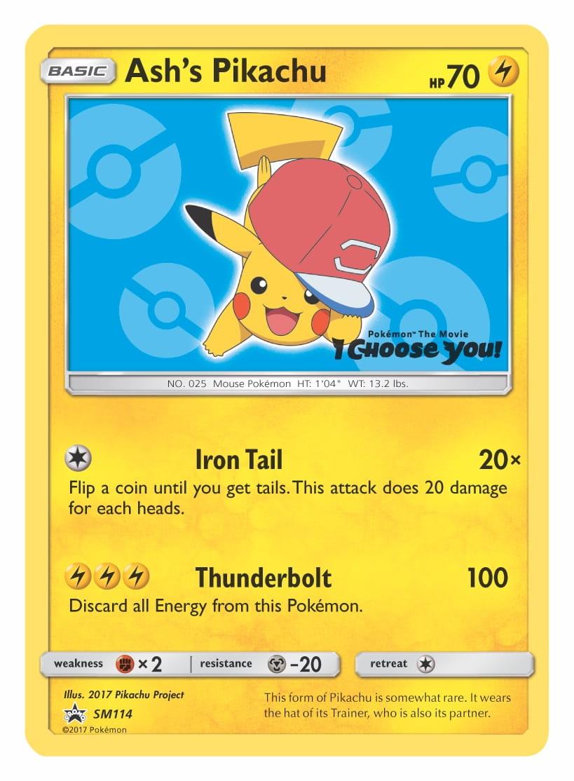 Ash's Pikachu (Alola Cap) Pokémon TCG Promo Card