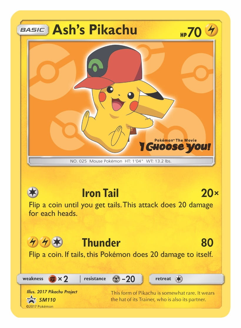 Ash's Pikachu (Hoenn Cap) Pokémon TCG Promo Card