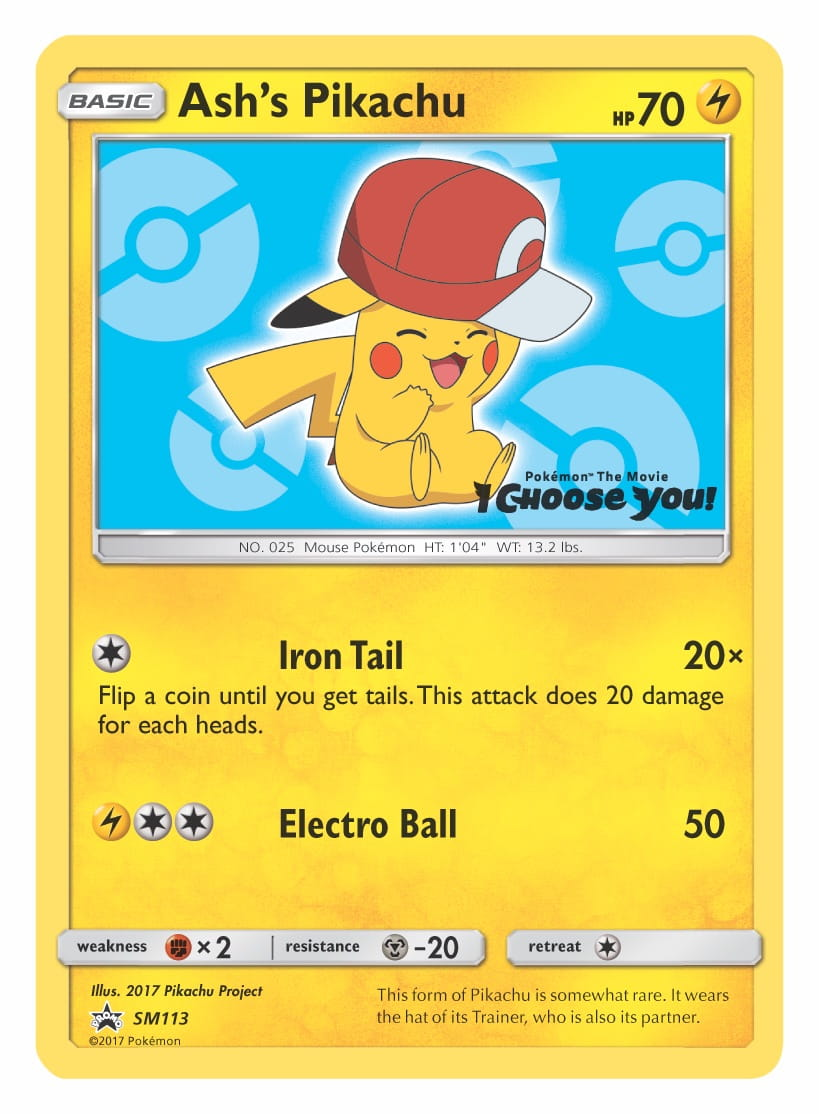 Ash's Pikachu (Kalos Cap) Pokemon TCG Promo Card