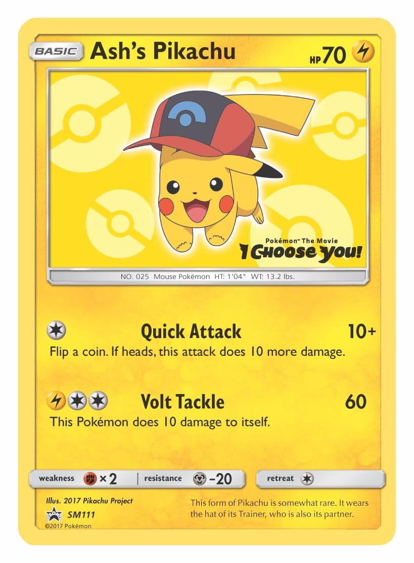 Ash's Pikachu (Sinnoh Cap) Pokemon TCG Promo Card