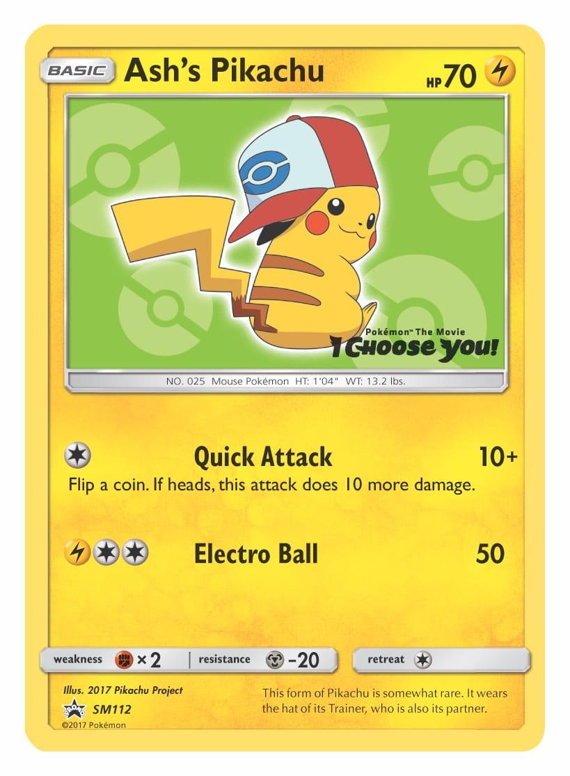 Ash's Pikachu (Unova Cap) Pokemon TCG Promo Card