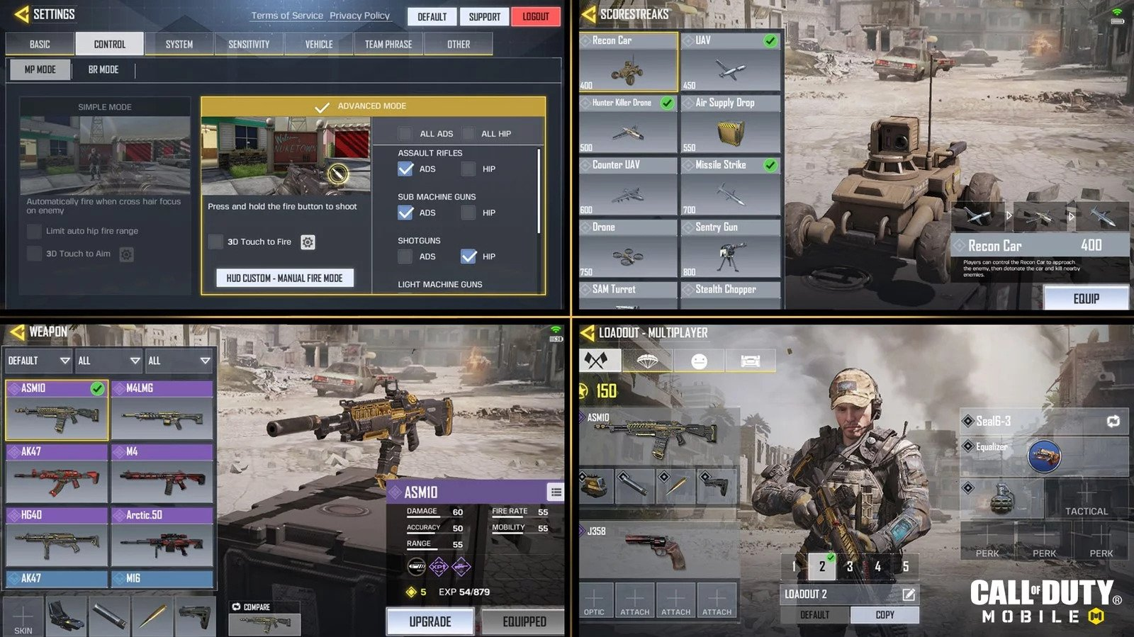 Call of Duty Mobile Layout