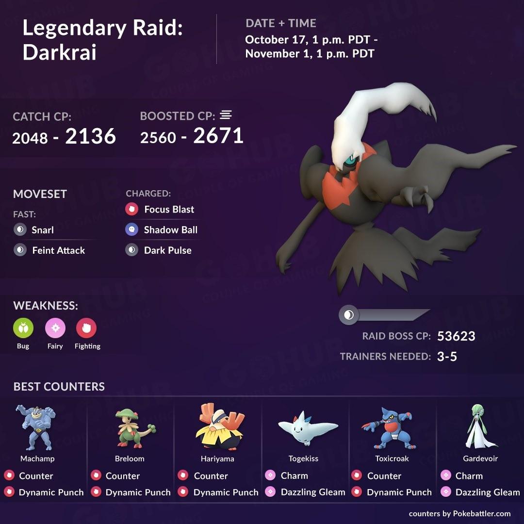 Halloween 2019 Event Legendary Raid Darkrai