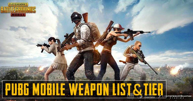 PUBG Mobile: Gun Tier List